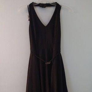 Black swing cocktail dress
